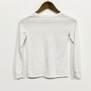 Champion Shirts & Tops - Champion | White Long Sleeve Spellout Graphic Tee